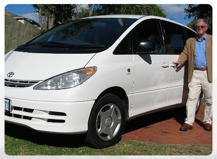 Bunbury car hire Toyota Tarago